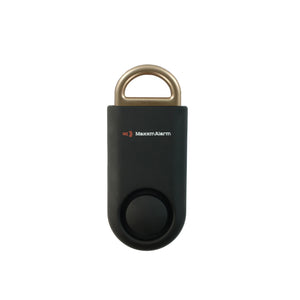 Eco Maxx Portable Personal Security Alarm Matte Black-Gold