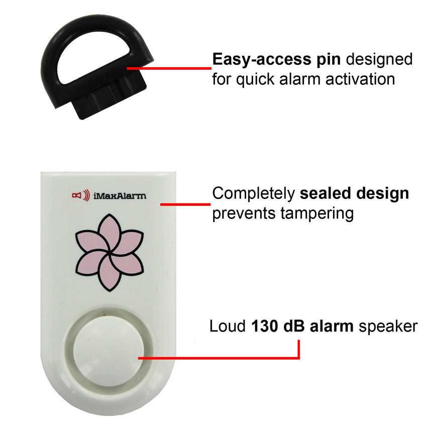 Kids Portable Personal Security Alarm Flower - MaxxmAlarm