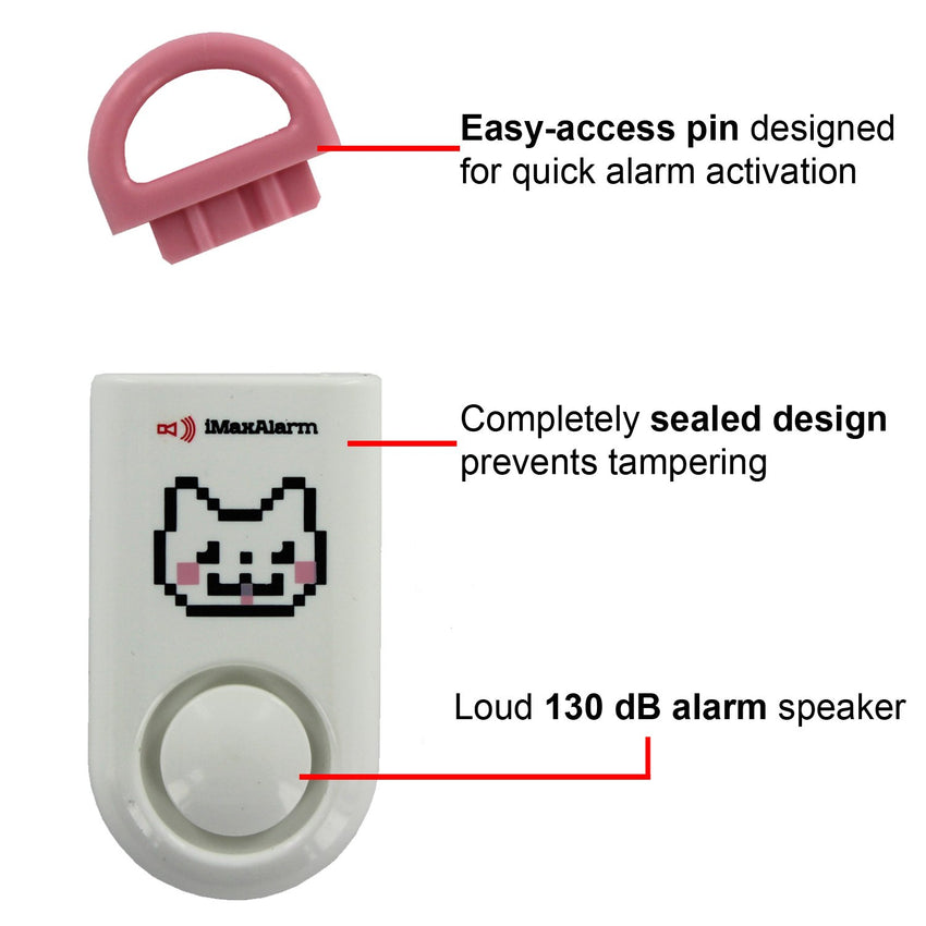 Kids Portable Personal Security Alarm Kitty Cat