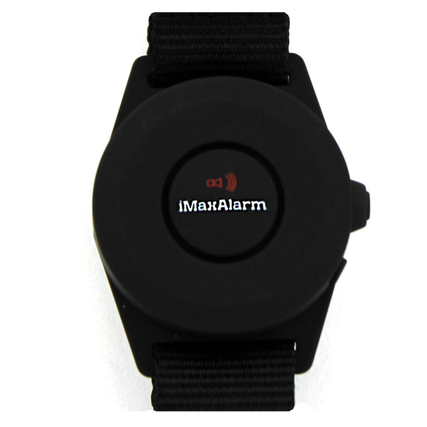 iMaxAlarm 2-in-1 Security + Burglar Alarm Wrist Band Matte Black