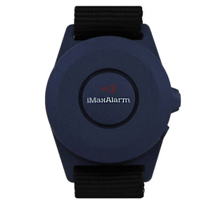 iMaxAlarm 2-in-1 Security + Burglar Alarm Wrist Band Matte Blue