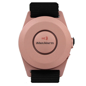 iMaxAlarm 2-in-1 Security + Burglar Alarm Wrist Band Matte Rose Gold