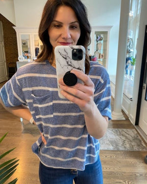 Blush Pink Tiered Ruffle Sleeve Top