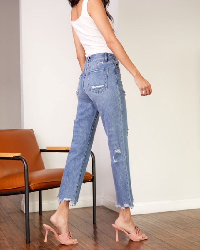 Gray Button Detail Hoodie Top