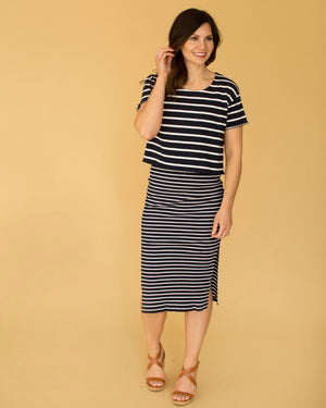 Stripe Knit Top and Dress Set