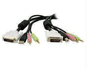 Startech 4-in-1 Usb Dvi Kvm Switch Cable W- Audio - PCMatrix Center
