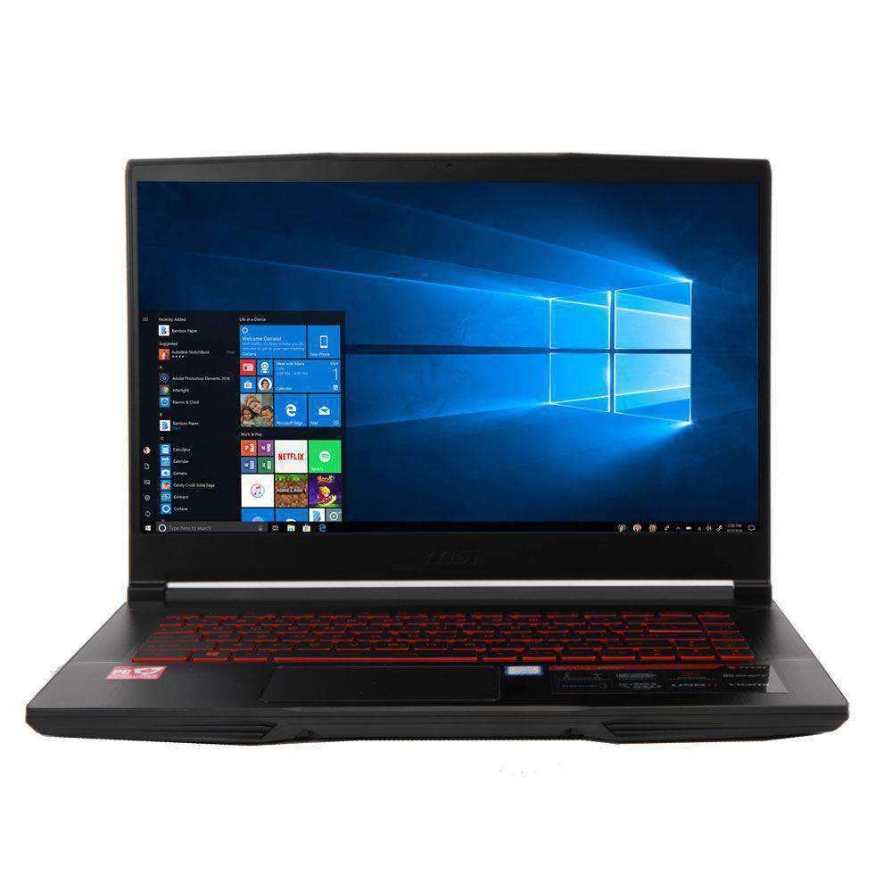 "MSI GF63 15.6"" Gaming Laptop Computer - Black Intel Core i5-8300H Processor 2.3GHz; NVIDIA GeForce GTX 1050Ti 4GB GDDR5; 8GB DDR4-2666 RAM; 256GB Solid State Drive"