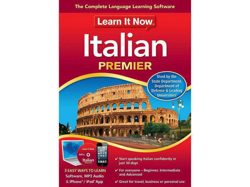 Avanquest North America Inc Learn It Now Italian, Pc Esd-DIGITAL DOWNLOAD - PCMatrix Center