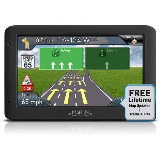Magellan RoadMate 5635T-LM 5.0 Touchscreen Portable GPS System w-North American Maps & Lifetime Map Updates-Traffic - PCMatrix Center