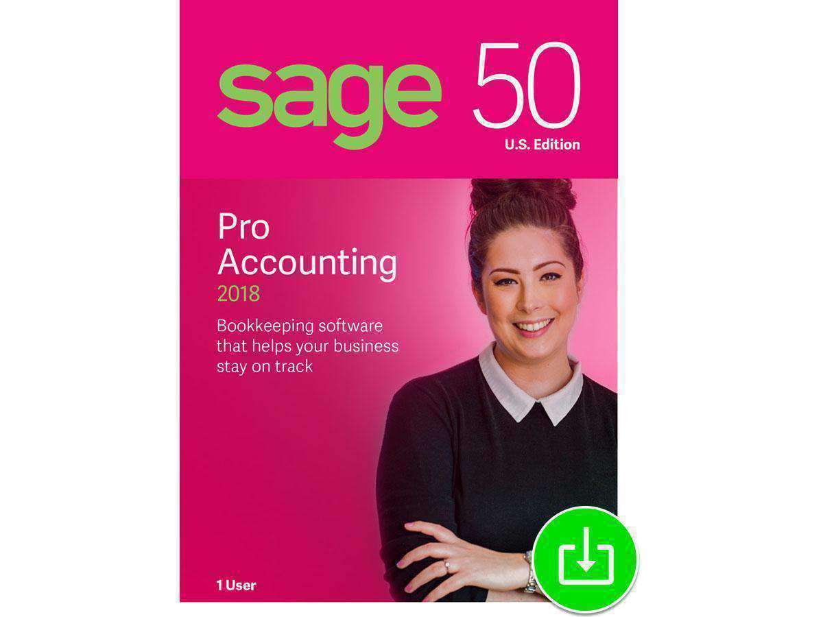 Sage Software, Inc Sage 50 Pro Accounting 2018 Esd-DIGITAL DOWNLOAD