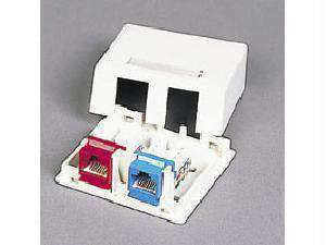 C2g Keystone Jack Surface Mntbox 2-port Wht - PCMatrix Center