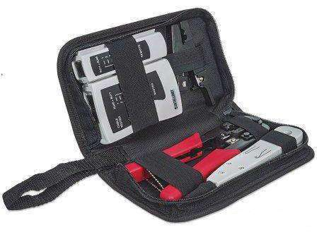 NEW (S) Intellinet 4-piece Tool Kit, Contains Lan Tester, Lsa Punch Down Tool, Crimping - PCMatrix Center