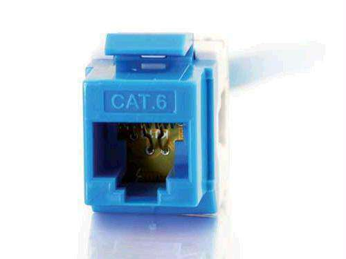 C2g Cat6 180 Keystone Jack Blue - PCMatrix Center