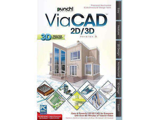Punch! ViaCAD 2D/3D-DIGITAL DOWNLOAD - PCMatrix Center