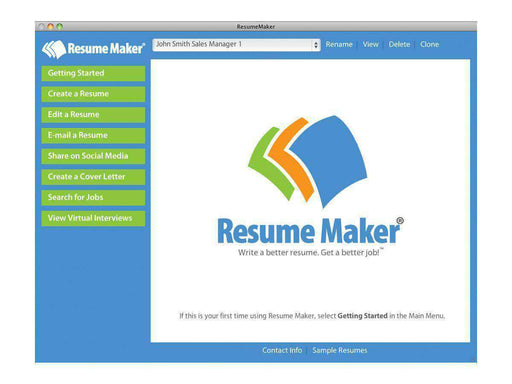 Individual Software Inc. Resume Maker For Mac Esd-DIGITAL DOWNLOAD - PCMatrix Center