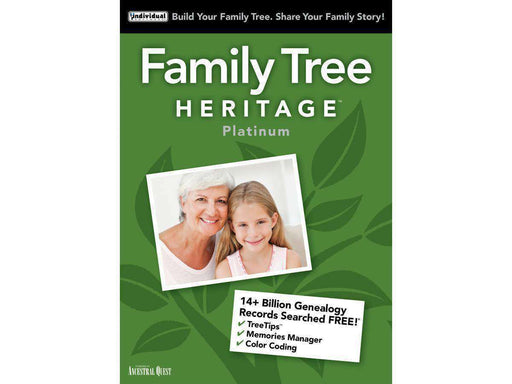 Individual Software Inc. Family Tree Heritage Platinum 15 Mac Esd--DIGITAL DOWNLOAD - PCMatrix Center