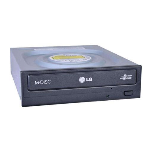 Hitachi-LG GH24NSC0 24x DVDRW DL SATA Drive w-M-DISC Support (Black) - PCMatrix Center