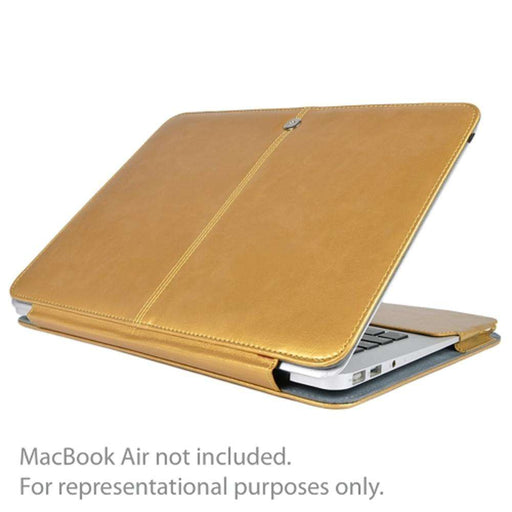 SlickBlue Leatherette Clip-On Case for 13 MacBook Air (Champagne Gold)