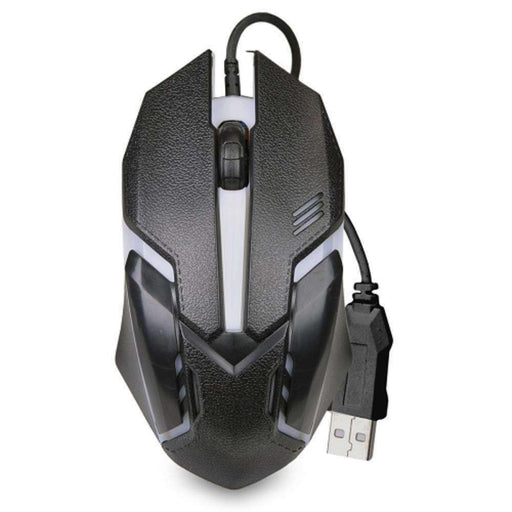 3-Button USB 3D Optical Scroll LED Gaming Mouse w-1600dpi (Black) - PCMatrix Center