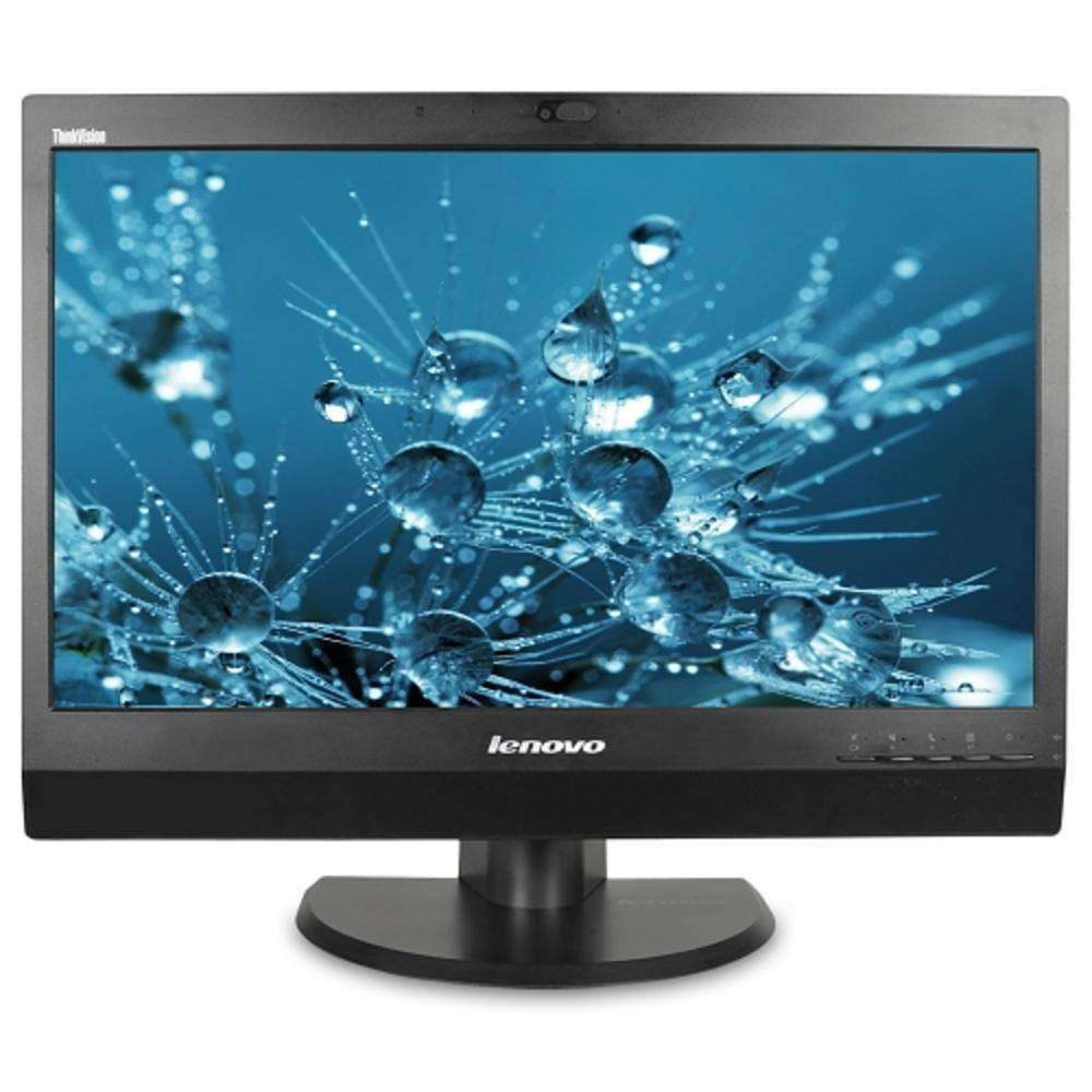 23 Lenovo ThinkVision LT2323zwC DisplayPort-VGA 1080p Rotating Widescreen LED IPS LCD Monitor w-Cam, Speakers, USB
