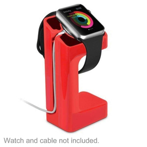 Acellories Apple Watch Charging Stand for Apple Watch 38mm and 42mm (Red) - Retail Hanging Package - PCMatrix Center