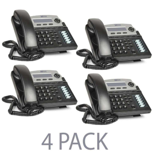 (4-Pack) XBLUE Networks X16 Corded Telephone Bundle w-Call Waiting, Caller ID & Auto Attendant Answers (Charcoal) - B - PCMatrix Center