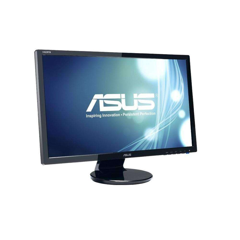 24 Asus Widescreen Fullhd 1920x1080 Dvi Vga Hdmi Lcd Led Monitor W- Speakers Black Ve248h