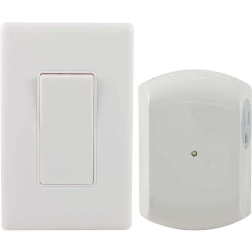 GE(R) 18279 Wireless Wall Switch Light Control with 1 Outlet Receiver - PCMatrix Center