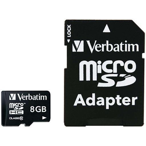 Verbatim(R) 44081 microSDHC(TM) Card with Adapter (8GB; Class 10) - PCMatrix Center