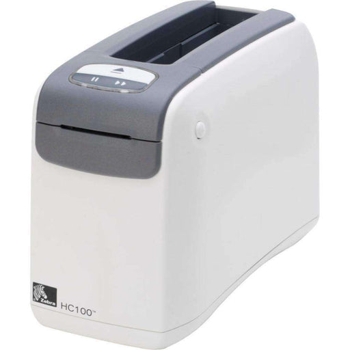 Zebra HC100 Direct Thermal Printer - Monochrome - Desktop - Wristband Print - 1.19 Print Width - 4 in-s Mono - 300 dpi - 16 MB - USB - Serial - Ethernet - PCMatrix Center
