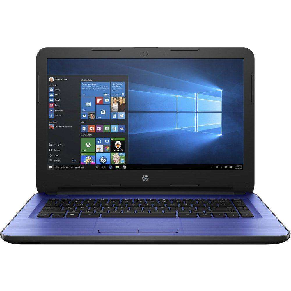 Hp 14-am052nr W2m36ua Notebook Pc - Intel Celeron N3060 1.6 Ghz Dual-core Processor - 4 Gb Ddr3l Sdram - 32 Gb Ssd - 14-inch Led Display - Windows 10 Home 64-bit - Blue