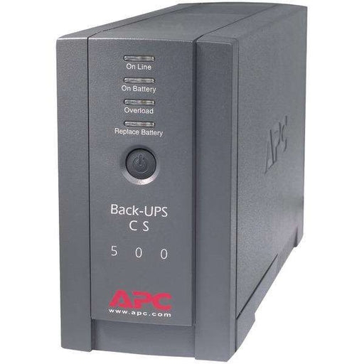 APC BK500BLK Back-UPS System (CS 500) - PCMatrix Center