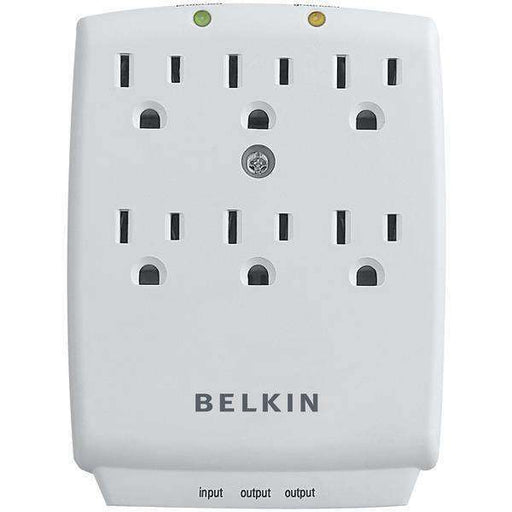 Belkin F9H620-CW 6-Outlet Wall-Mount Surge Protector - PCMatrix Center