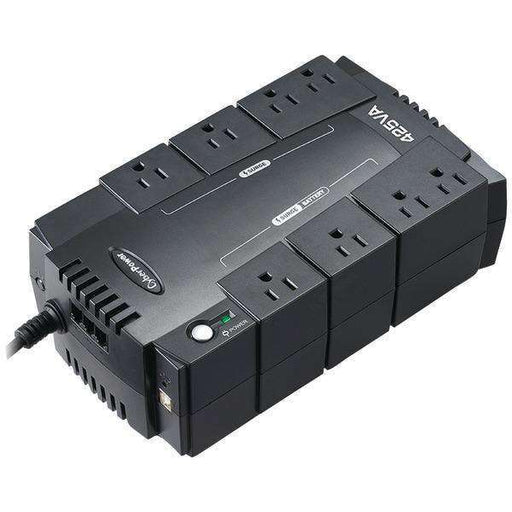 CyberPower CP425SLG 8-Outlet Standby UPS System ($75,000 connected equipment guarantee)