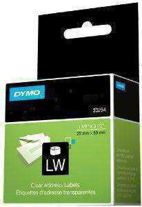 Dymo Clear & Color Address Labels - 130 Labels. Size: 1-1-8in X 3-1-2in - PCMatrix Center