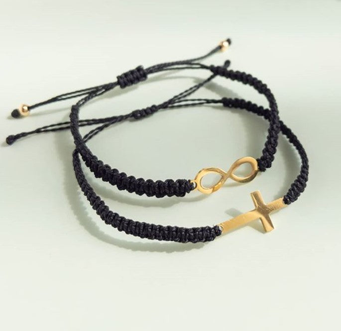 Cross and Infinity Charms