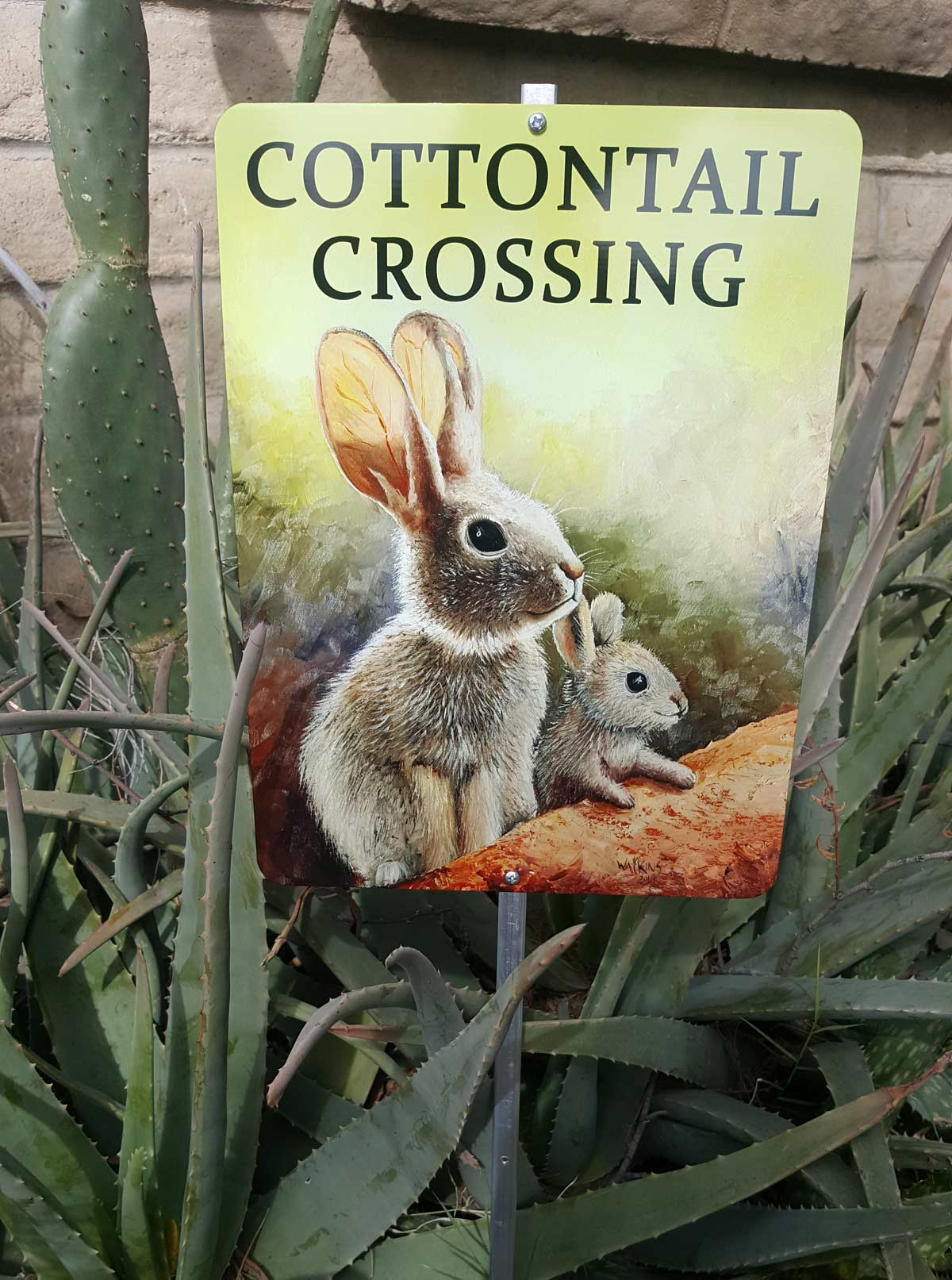 Cottontail Crossing Sign