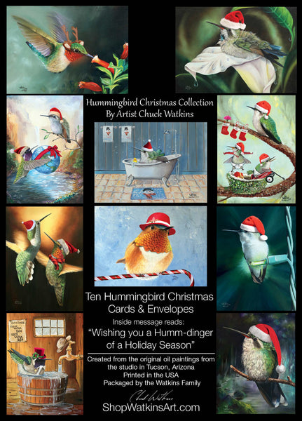 Hummingbird Christmas Cards