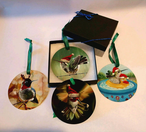 Hummingbird Ornament Set