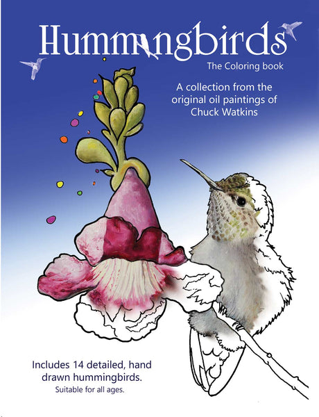"""Hummingbirds, the Coloring Book"" Pre-orders"