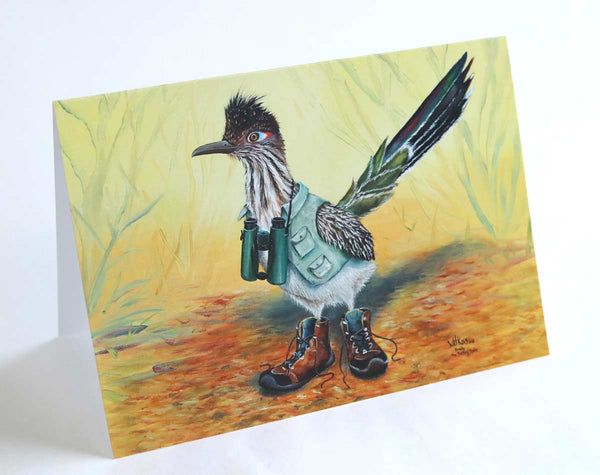 Buddy the Birding Roadrunner Greeting cards.