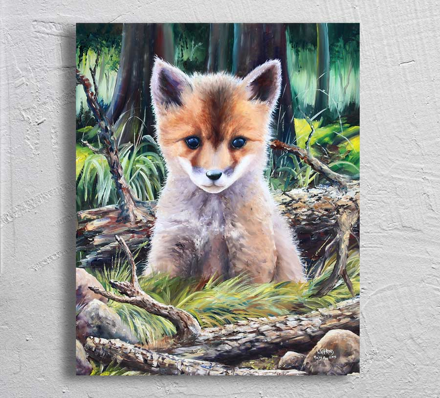 """Baby Fox"""" on Aluminum"