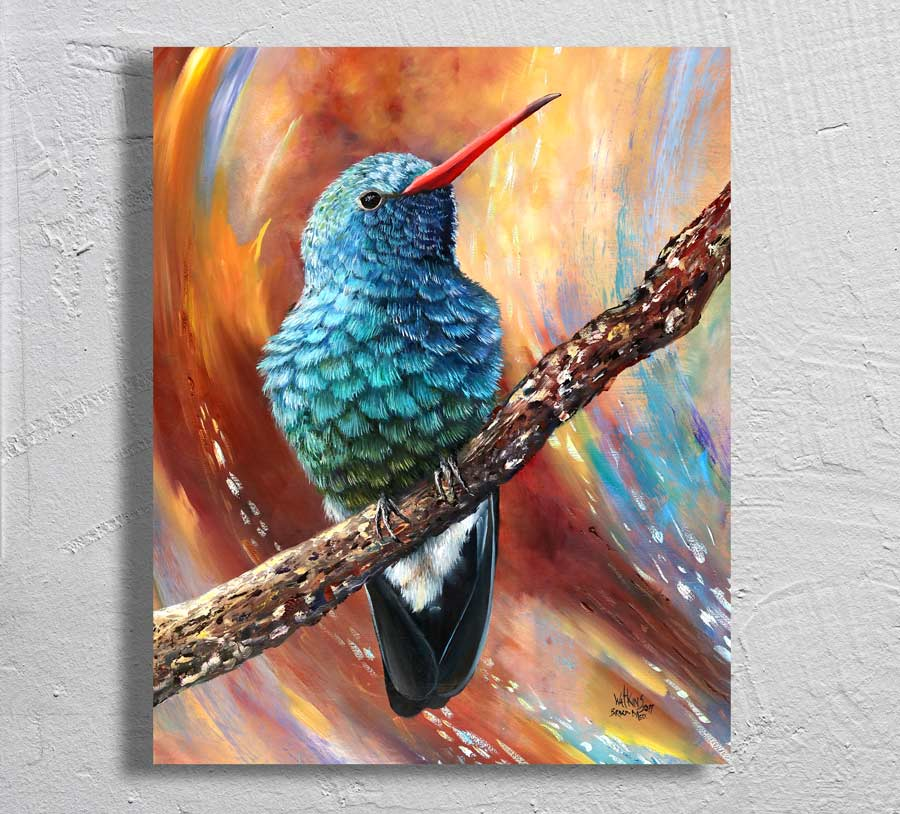 """Broad-billed"" on Aluminum"