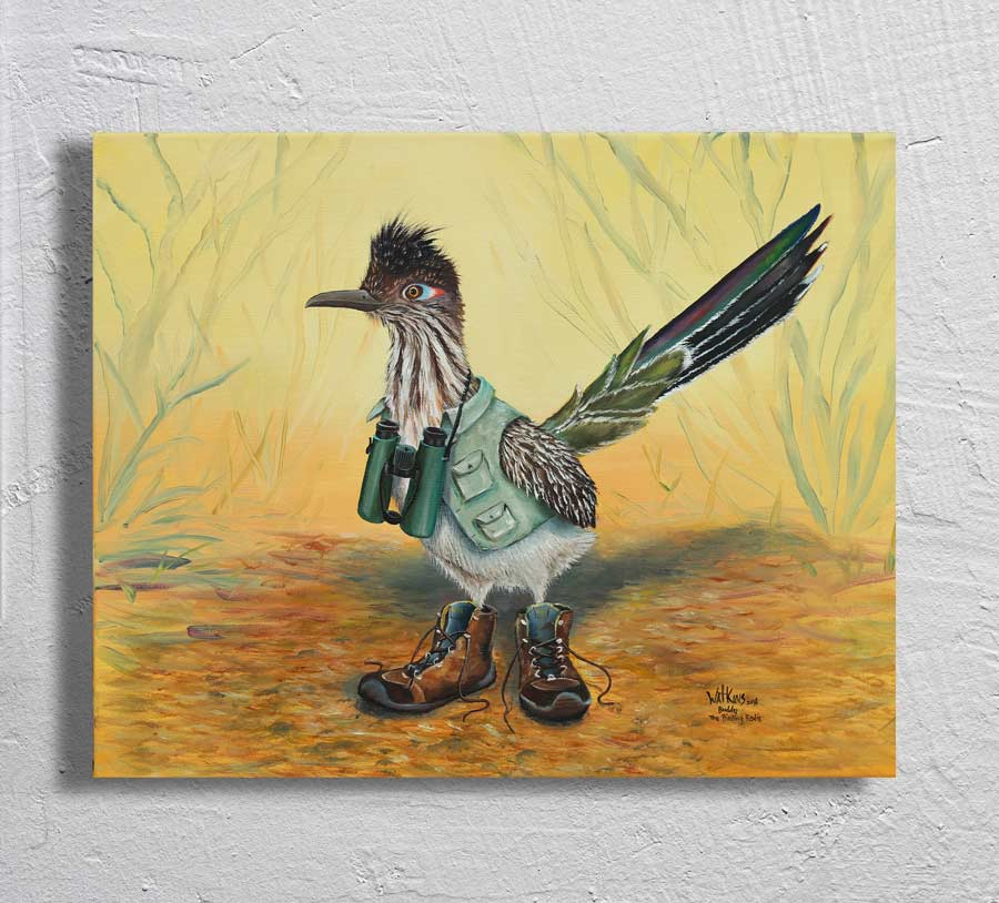 """Buddy the birding Rodie"" on Aluminum"