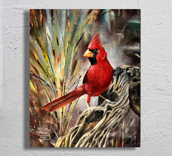 """Cardinal"" on Aluminum"