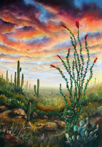 """Coyote Trail"" Original Oils"