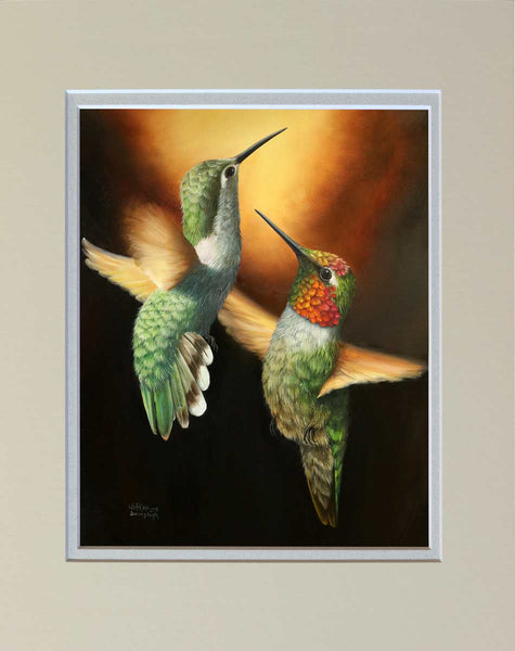 """Dancing Angels"" Matted Print"