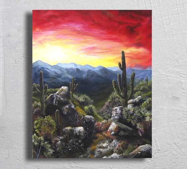 """Monsoon Valley"" on Aluminum"