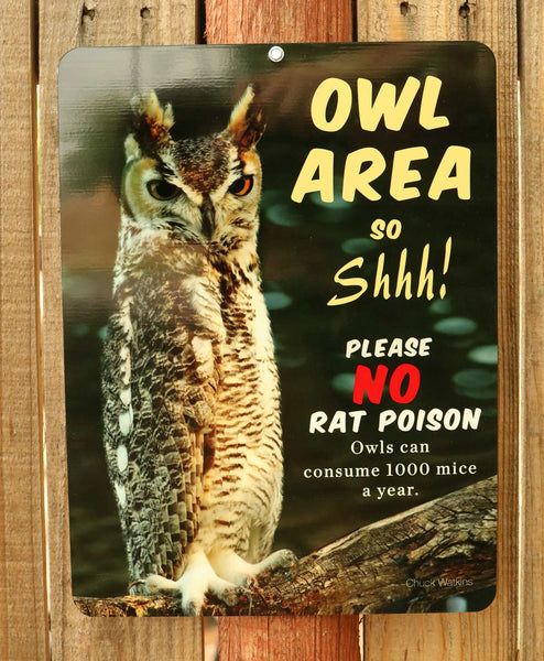 """Owl Area"" Aluminum Sign"
