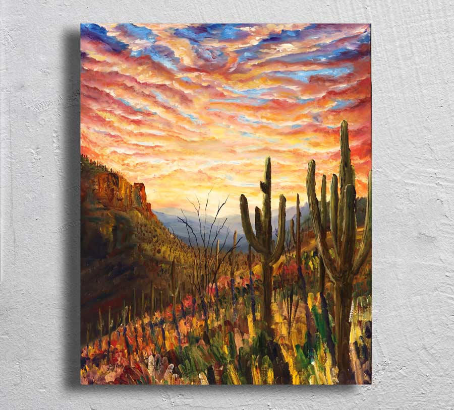 """Saguaro National Park"" on Aluminum"